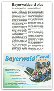 Bayerwald-Card-Plus-Zeitung
